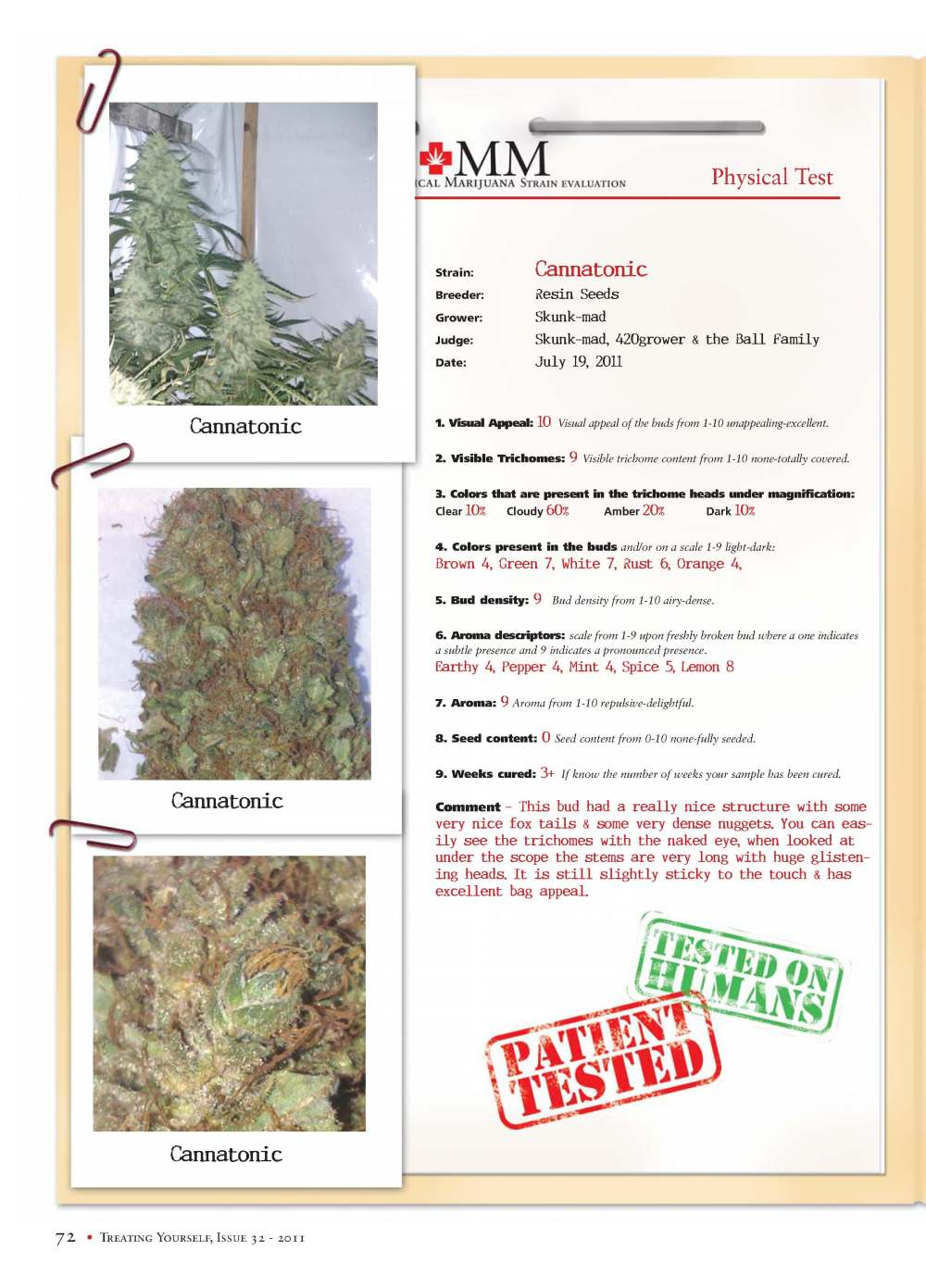 Strain Report: Cannatonic
