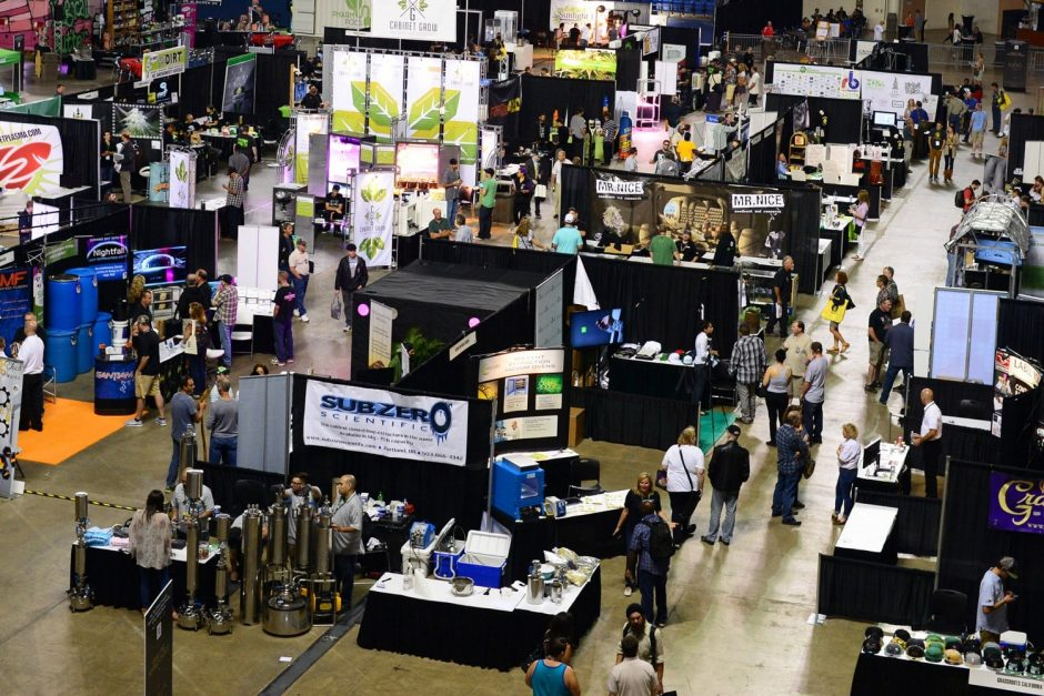 The CannaCon exhibit floor features cannabis packaging and processing wholesalers and many other companies for networking.