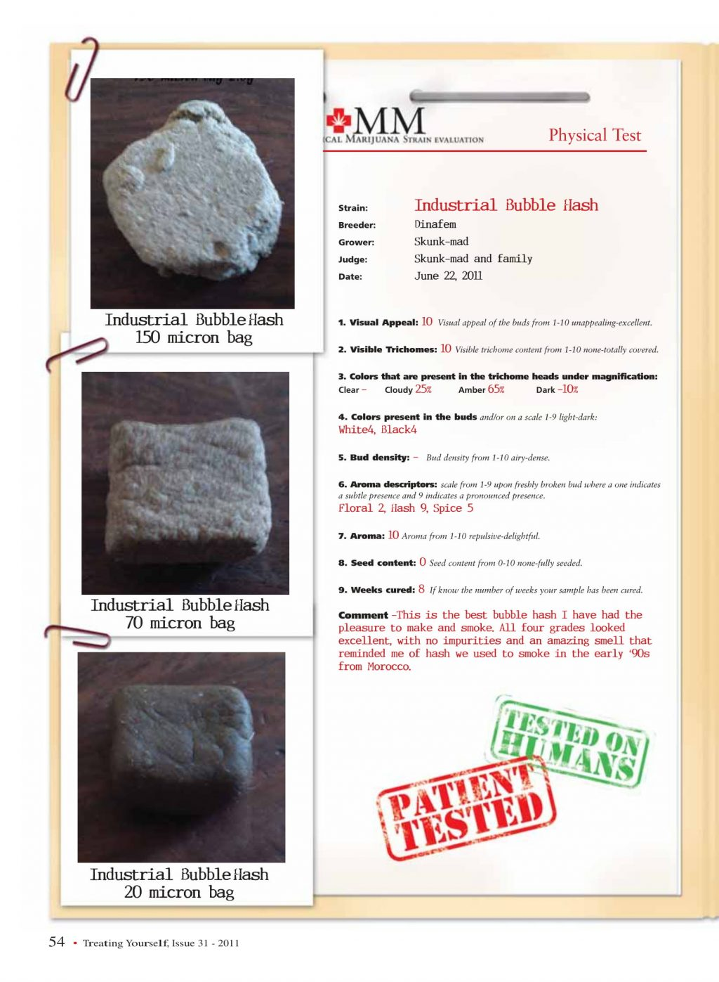 Industrial Bubble Hash Review