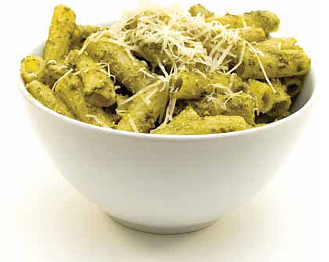 Bubble Hash Rasta Pasta with Cilantro Pesto